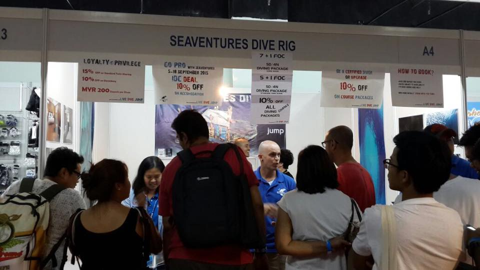 MIDE 2015 was packed for booking Sipadan diving with Seaventures Dive Rig - The best diving in Malaysia!