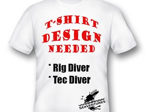 Seaventures Dive Rig Sipadan T-Shirt Design