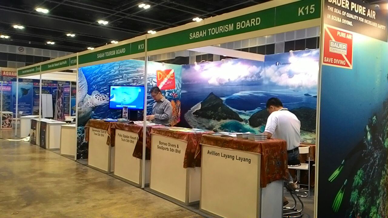 With Sabah Tourism Board at Booth K13 & K15